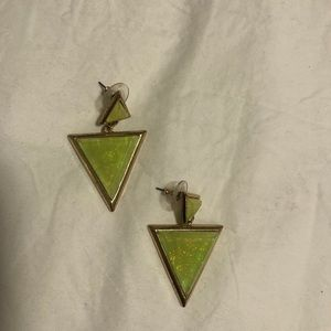 ❤️ 3/30$ Aldo gold and iridescent green earrings